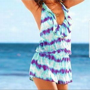 Victoria's Secret Tie Dye Romper Beach Cover Up